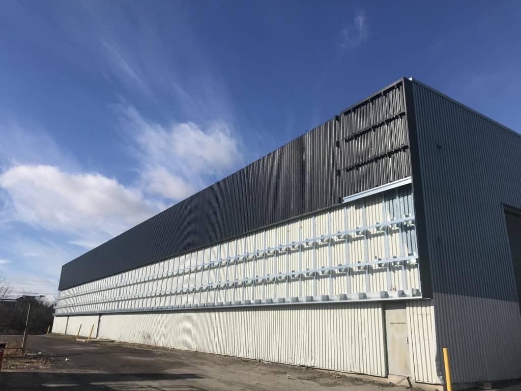 Solar wall installation