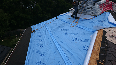 Super-Guard Roofing Underlayment Instal 3