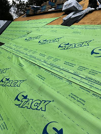 Super-Tack Roofing Underlayment Installation 2